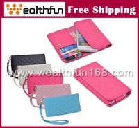 free DHL shipping cost leather cover book wallet stand card holder shell for apple iphone 5s shell high quality