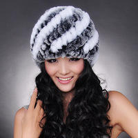 Chopop Fur 2013 Genuine Rex Rabbit Fur Hat Fur Ear Protector Rabbit Fur Cap Winter fur Cap Female Free Shipping