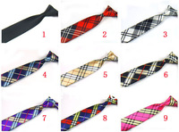 Mens 2 Inch Skinny Necktie Slim Neck Ties Plaid Patterned Free Shipping 10 PCS