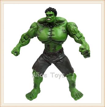 Green Hulk Figure of Super Hero Marvel Comic Movie Avengers Defender Bruce Banner 22cm Heigh Rare