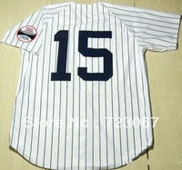 Free shipping Baseball jerseys #15 Thurman Munson 15 white stripe throwback jersey  good quality cheap jersey gift HW