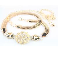 Metal rhinestone female belt decoration fashion diamond belly chain gold