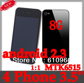 "New i68 4(G/S 4S F8 model phone 3.5 ""android 2.3 MTK6515 wifi built-in 8GB 1:1 smart phone"