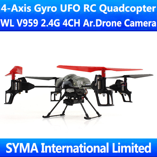 New Arrival WL V959 with Camera Video 2.4G 4CH RC Quadcopter Quadricopter 4-Axis GYRO Helicopter Quad Copter UFO Aircraft(China (Mainland))