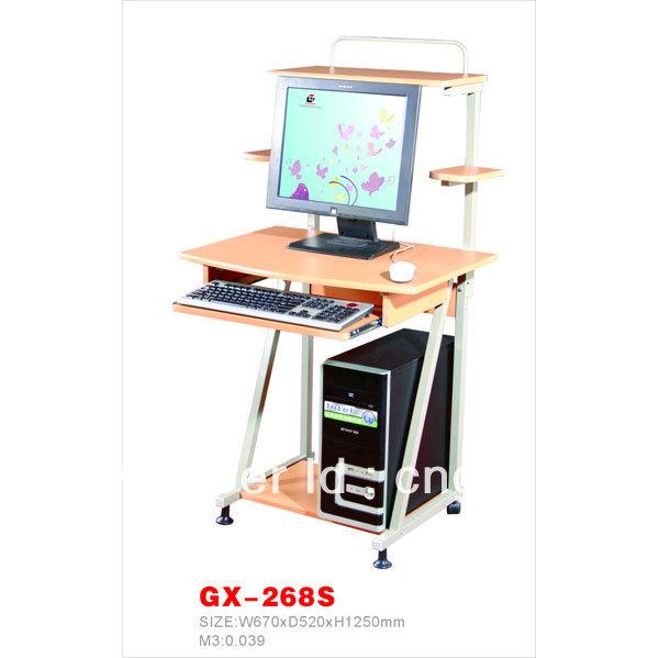 GX-268S cheap metal&wood desktop computer desk(China (Mainland))