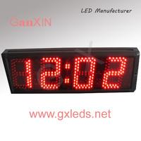 5 inch 4 digits led world clock modern wall clock