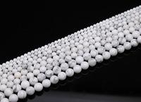 4 6 8 10 mm White Natural Turquoise Stone Shamballa Beads DIY Jewelry Making Bracelet Necklace Loose Bead HB527