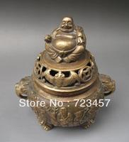 Chinese Bronze Engraving  Buddha and Longevity god   Incense Burners