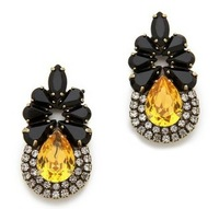 ES010 mini black flower  rhinestone crystal stud earring  2013 jewelry TL-7.99 20D