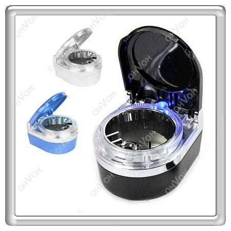 S5V High Quality Mini Portable LED Car Auto Smoke Cigrette ashtray Holder car ash tray Free Shipping(China (Mainland))