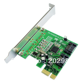 Hot sale!! IOCREST 2-port SATA III SATA 3.0 6Gbps TO PCI-Express RAID Controller Card Marvell 9128 Chip