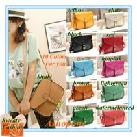 Promotions!! 2014 New Vintage Womens Ladies PU Leather Crossbody Satchel Shoulder Messenger Bag Handbag 10 Colors