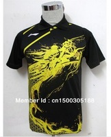 free shipping Li-Ning Man's London 2012 Olympic Games T-Shirt Table Tennis,Ping Pong RED BLACK BLUE
