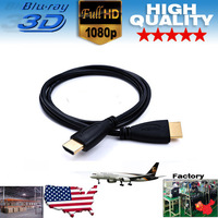 Free Shipping 100PCS/Lot 3FT High Quality AM-AM HDMI cables of V1.4 for Xbox and PS3 and HDTV for NA