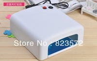 Free Shipping  100V~120V 60HZ  36w gel curing  uv lamp /4*9w uv lamp /uv light +1 piece bulb for gift