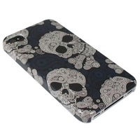 Unique New Skull Bone Fashionable Hard Back Cover Skin Case For Apple iPhone 4 4S 4G /CFree shipping& Wholesale