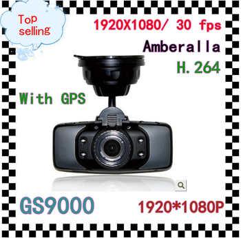 "Free Shipping 100%original Amberalla Car DVR with gps GS9000 Car dvr 2.7"" LCD 178 Degree Angle 1920X1080P G-Sensor Russian"