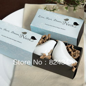 Wedding Favors Love Bird Salt & Pepper Shakers in Gift Package+150sets/lot+FREE SHIPPING+Factory Outlet Wholesale(China (Mainland))