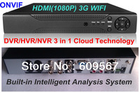 4CH Full 960H Super CCTV DVR+HVR+NVR 3 in 1 Intelligent 3G WIFI Security System with HDMI 1080P Output ,Cloud Tech and ONVIF
