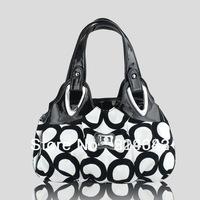 2013 Fashion Korean handbag beautiful Women PU leather Bag Tote Bag Printing Handbags six style Satchel drop WHOLESALES