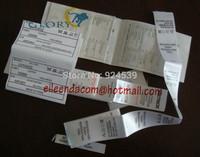 free shipping washing label/OEM customized labels/garment printed label