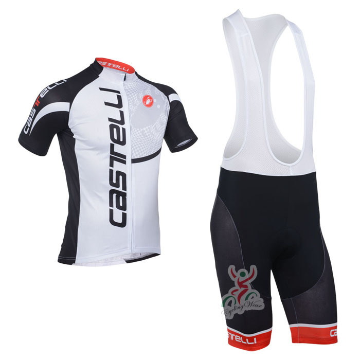 The Lowest Price! Any Way To Match! New! 2013 castelli Team Black&White Pro Cycling Jersey / (Bib) Shorts-B169 Free Shipping!(China (Mainland))