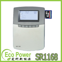 CE approved solar water heater controller SR1168 Datalogging onto SD memory card! Internet access 6 application system programs
