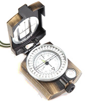Foldable Army Liquid Filled Prismatic Compass With Gradienter Auto Navigation Device High Quality