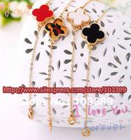 12pcs/lot Bowknot Butterfly Leopard Heart Pendant Bracelets charm leopard design luck leaf bracelet Uhomes Jewelry