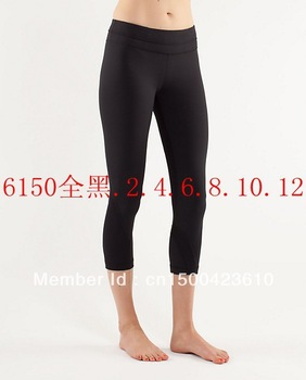 Free shipping Cheap 2013 new lululemon Capris lululemon YOGA Pants FOR LADY Size 2 4 6 8 10 12