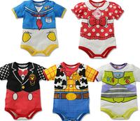 Free shipping infant short sleeves mickey romper bebe fantasia infantil summer jumpsuit minnie baby romper KR053