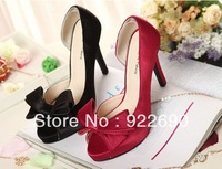 2013 bow high-heeled shoes open toe shoe wedding shoes wedding shoes wedding shoes formal dress women's shoes