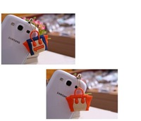 Smiley bag pendant plug earphones 3.5mm general mobile phone dust plug for iphone5  phone accessories
