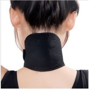 Free Shipping 2 pcs/lot useful Tourmaline Far Infrared Ray Heat Neck Massager, Brace Support Strap Relief Pain Health(China (Mainland))
