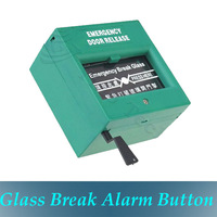Emergency Exit Door Release Glass Break Alarm Button for Access Control System(Green)