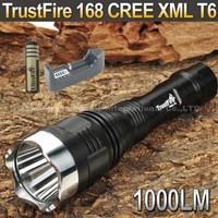 TrustFire 168 CREE XML T6 1000LM 5-Mode Memory Long-Range LED Flashlight + 4000mah 18650 battery+1*charger