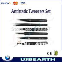 Free Shipping Toyo BGA tweezer Antistatic tweezers (6 sizes/set) For Repair Use