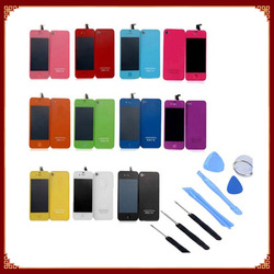 100% Guarantee For iPhone 4 4G Color LCD Screen Digitizer Back Cover Housing Replacement Parts GSM CDMA Version(China (Mainland))