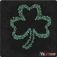 YSSTONE 23D014 Bling Leaf Design Rhinestone Heat Motif For Western Festival