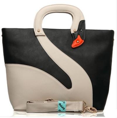 2013 Fashion Lady's Handbags Single Shoulder Bag HONG KONG OPPO Swan Patchwork Zipper Korean Bag(China (Mainland))