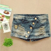 2014 New Arrival&Personality Women's All match Skinny Denim Jeans Skirt Ladies Skirt S:S-XL #2880