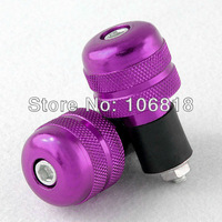 "Purple Aluminum Bar End Plug Weight Protector Slider for Motorcycle 7/8"" Handlebar Moto Sport Bicycle Dirt Bike ATV Universal"