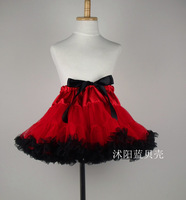 Red Skirt children's  yarn tutu girls cake skirts children TUTU skirt  Free Shipping 1PC/Packaged for sale