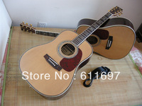 2013 new arrival + free shipping + M D forty five s folk acoustic guitar, professional guitar factory with experience of 25 year