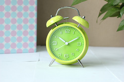 Stereoscopic word alarm clock luminous clock mute clock personalized clock ofhead alarum small alarm clock(China (Mainland))