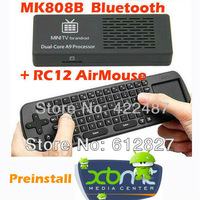 MK808B Android 4.2.2 Mini PC RK3066 A9 Dual Core Stick Online TV Box MK808 with Measy RC12 Wireless Keyboard Air Mouse