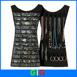 2013 New arrival 1pcs/lot,hanging jewelry organizer,2 sides Organizer hangs As seen on TV Storage Bag,hanging jewelry bag(China (Mainland))