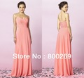 Chiffon Pleat Criss-Cross Bridesmaid Dress 2014---MG410