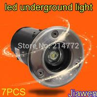 Underground Light  DC12V  1W Garden Light Buried Lamp IP65,Cool White/Warm White,Surface Oxidating Free Shipping  7pcs/lot