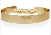 Fashion New Arrival 2013 Metal Gold Belt Women Waist Belt Mirror Chain Women Belts Woman 2013 Gold Waistband Belts For Women P50